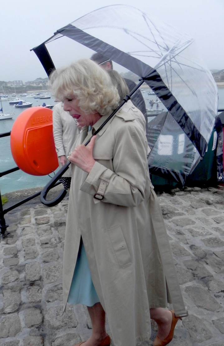 Prince Charles and Camilla visiting the Isles of Scilly in July 1012.